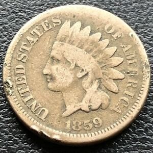 1859-Indian-Head-Cent-1c-Circulated-23287