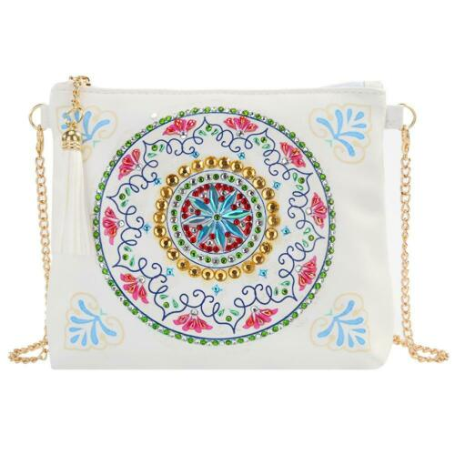 DIY Special Shaped Diamond Painting Crafts Leather Crossbody Bags Clutch Pouch