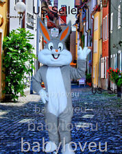 New Bugs Bunny Mascot Costume Adult Size Rabbit Easter Bunny Dresses -US Seller!