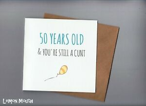 Image Is Loading FUNNY 50TH BIRTHDAY CARD FRIENDS MATES FIFTY HUMOUR