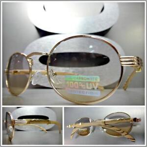 03baee7788 Men Classy Modern SUN GLASSES Oval Rose Gold   Wood Wooden Frame ...
