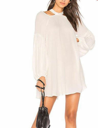 Anthropologie Free People Drift Away Cold Shoulder Tunic Mini Dress XS NWT
