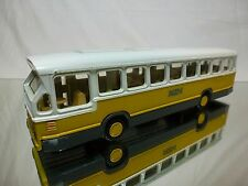 LION TOYS 38 DAF CITY BUS - NZH - WHITE YELLOW GREY 1:50 - GOOD CONDITION
