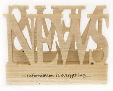 Zeitungsständer Zeitschriftenhalter Zeitschriftenständer Design NEWS aus Holz