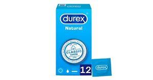 12x Preservativo Preservativos Durex Natural Relaciones Sexuales Placer Condones