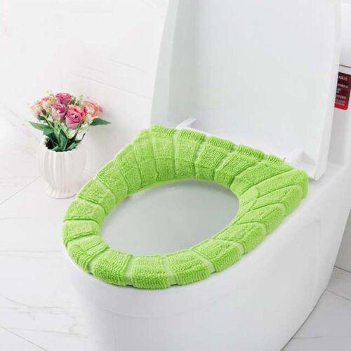 Comfortable Velvet Coral Toilet Seat Cover Standard Pumpkin Cushion Multicolor b