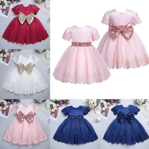 Flower Girls Princess Dress Baby Toddler Party Wedding Birthday Formal Dresses