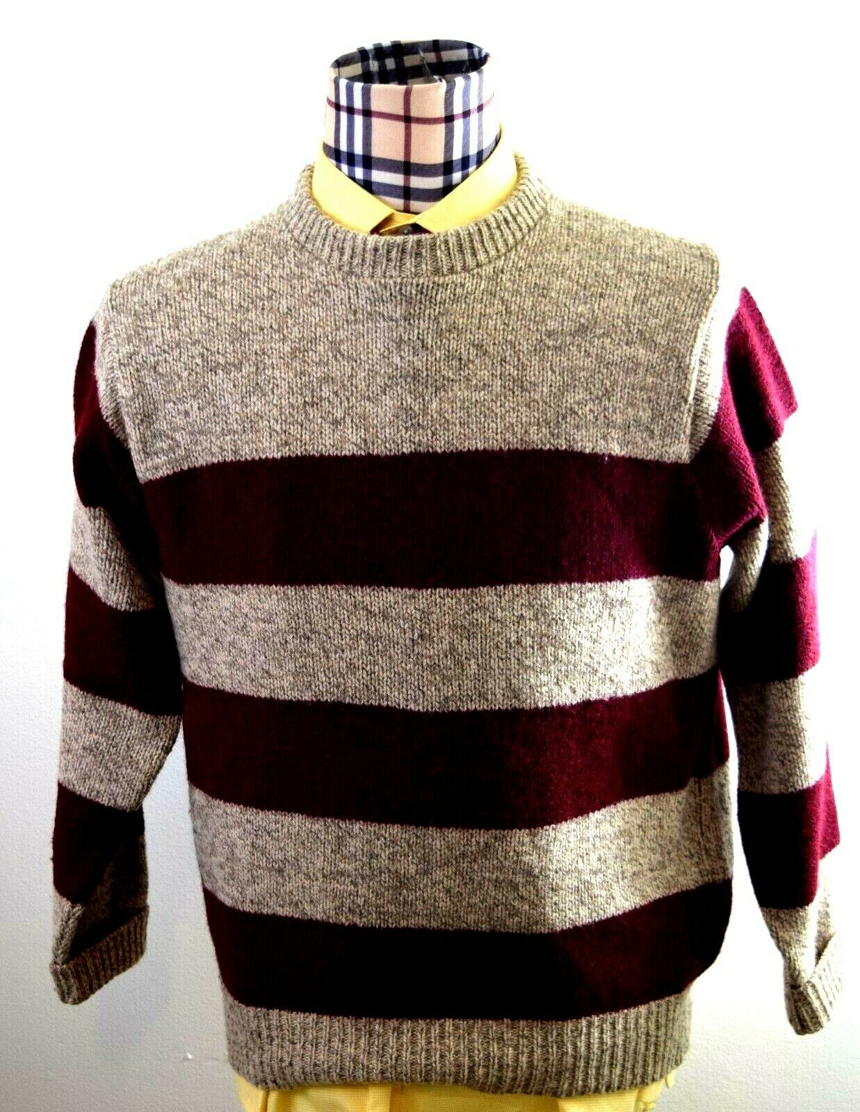 LL Bean Mens Wool Blend Crew neck Large Classic USA Sweater Large