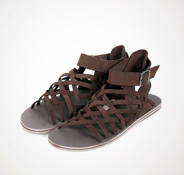Gothic Gothic Gothic Uomo Leather Roman Sandals High Top Summer Breathable Y7 scarpe Hollow 0ff24d