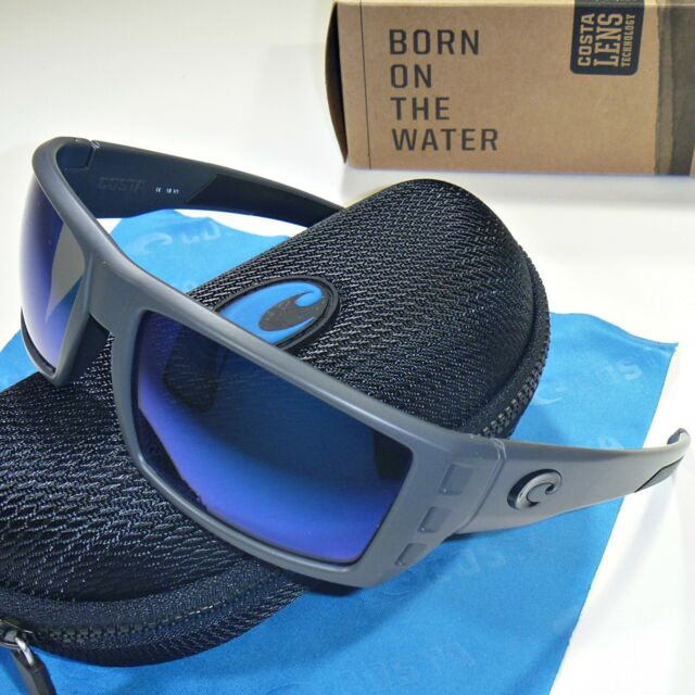 da385e193366 Costa Del Mar Rafael Polarized Sunglasses - Matte Gray/Blue Mirror 400G  Glass