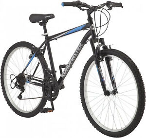 26-Mens-Mountain-Bike-18-Speed-Bicycle-Comfort-Seat-Outdoor-Cycling-Black-NEW
