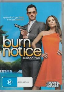 Burn-Notice-Season-2-DVD-4-Disc-Set-Series-Two-Second-REGION-4-AUSTRALIA