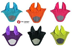 HI-VIZ-REFLECTIVE-HORSE-EAR-BONNET-FLY-VEIL-NET-HOOD-MASK-HIGH-VISIBILITY