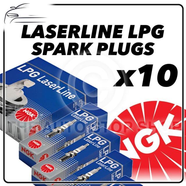 8x NEW NGK LASERLINE LPG SPARK PLUGS LPG2 Stock No 1497 8pk Part No