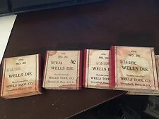 "Vintage R&T Co. No.20 ""5/16-18NC"" LH Die in Wells Tool Co. Machinist Box NOS"