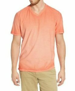 Tommy Bahama Cirrus Coast V-Neck S/S Cotton Blend Stretch L Mango Tango NWT