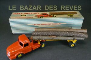 DINKY-TOYS-FRANCE-Tracteur-WILLEME-fardier-REF-36A-boite-lot-A