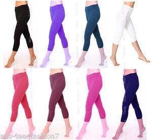 grande variété de styles 2019 original 2019 meilleures ventes Détails sur Short femme court coton leggings été Capri Longueur 3/4 Toutes  Tailles UK 8-28- afficher le titre d'origine
