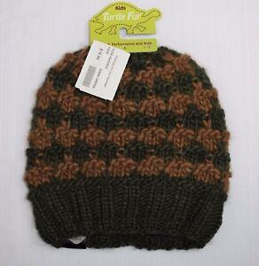 5d0ba086881 Boys  TURTLE FUR Hayden Beanie DARK GREEN Knit Fleece Lined Band ...