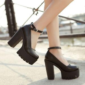 d7624253686 New Spring Ladies Footwear Casual Thick Heels Pumps Women Platform ...