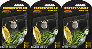(LOT OF 3) BOOYAH COVERT SPINNERBAIT BYCVS12NGT726 1/2OZ JC SPECIAL BO7405