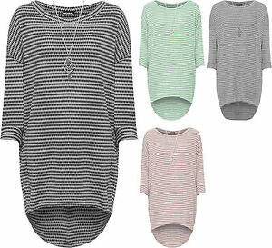 Plus-Womens-Knitted-Baggy-Dress-Top-Ladies-Necklace-Long-Sleeve-Pocket-Loose