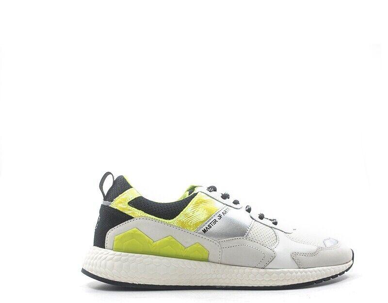 Zapatos Moa Master of Arts hombre Bianco naturaleza cuero, tela m1003