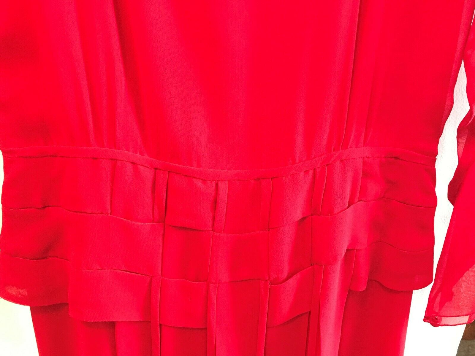 Vintage 80s Holly Harp Red Silk Gown - image 8