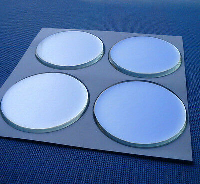 (49Ch) 4 Stück Chrom Embleme für Nabenkappen Felgendeckel 49mm Silikon Aufkleber
