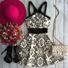 Sexy Women Lady Summer Floral Sleeveless Party Evening Cocktail Short Mini Dress