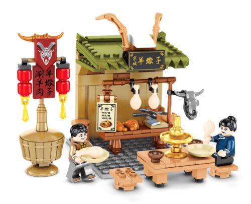 City Market Chinese Beijing Hot Pot Store Building Blocks Brick Figure Toy
