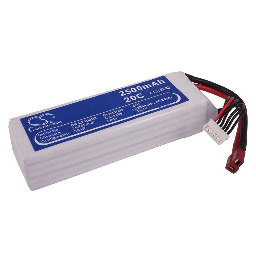 BATTERIA Li-Poly per varie modelli RC - 2500 mAh 18.5v 20c T-Spina jst-xhr-6p