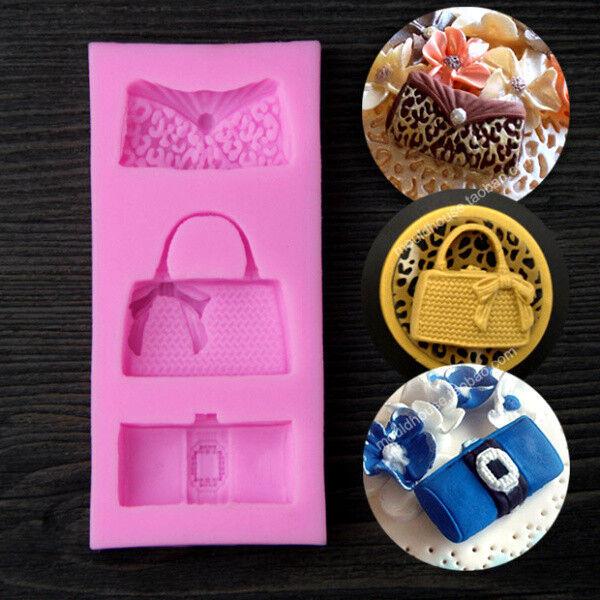 Handbag Silicone Mold Cookware Dining Bar Non-Stick Wedding Cake Bag MOULD