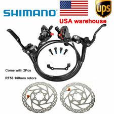 SHIMANO MT200 Bike Brake Hydraulic Disc Brakes Set Pre-Filled /& RT56 Rotors