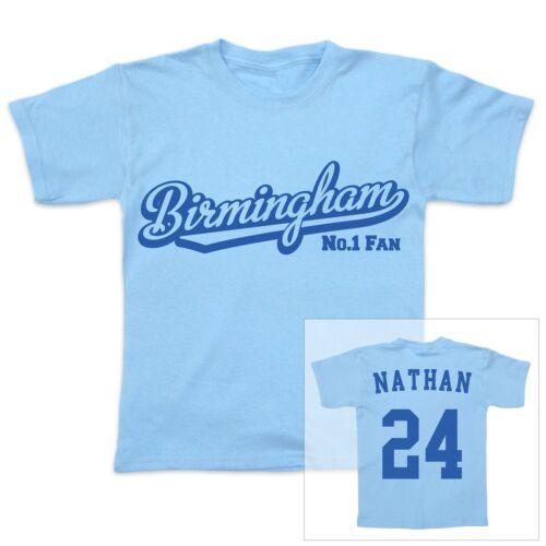 BIRMINGHAM Football Personalised Baby//Child T-Shirt