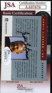 EDDIE-LEBARON-1992-Pro-Line-Autograph-JSA-Coa-Authentic-Hand-Signed