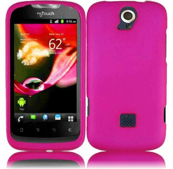 T-Mobile Huawei myTouch Q U8730 Rubberized HARD Case Snap Phone Cover Hot Pink