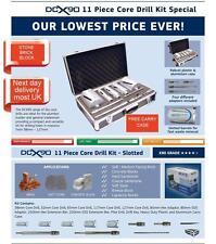 11 PEZZI DIAMOND PESA Dry Core trapano impostato nel caso delle caldaie CANNA FUMARIA TUBO RIFIUTI
