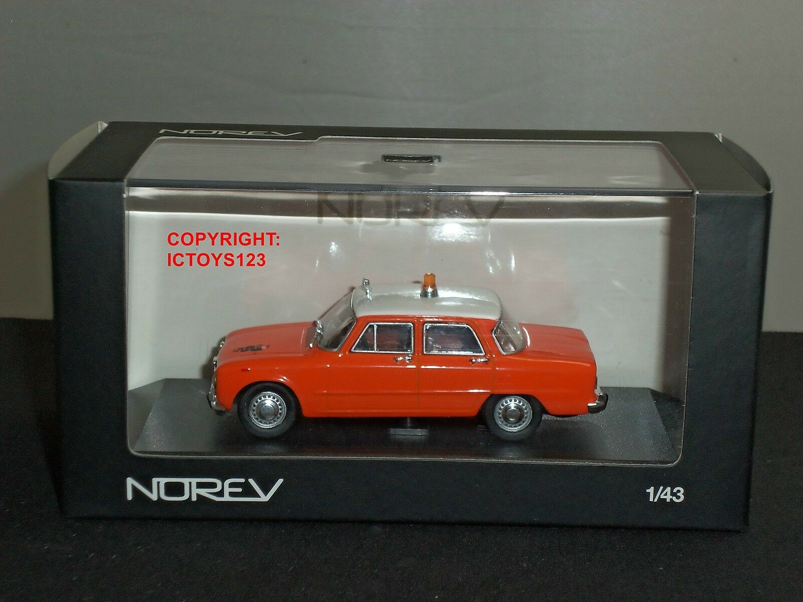 NOREV 790303 ALFA ROMEO GIULIA 1300 TI orange DIECAST MODEL CAR