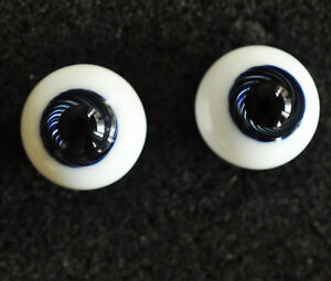 Nice Pink Pupil/&Iris 14mm Glass Eyes for Joint Reborn 1//4 BJD Dollfie