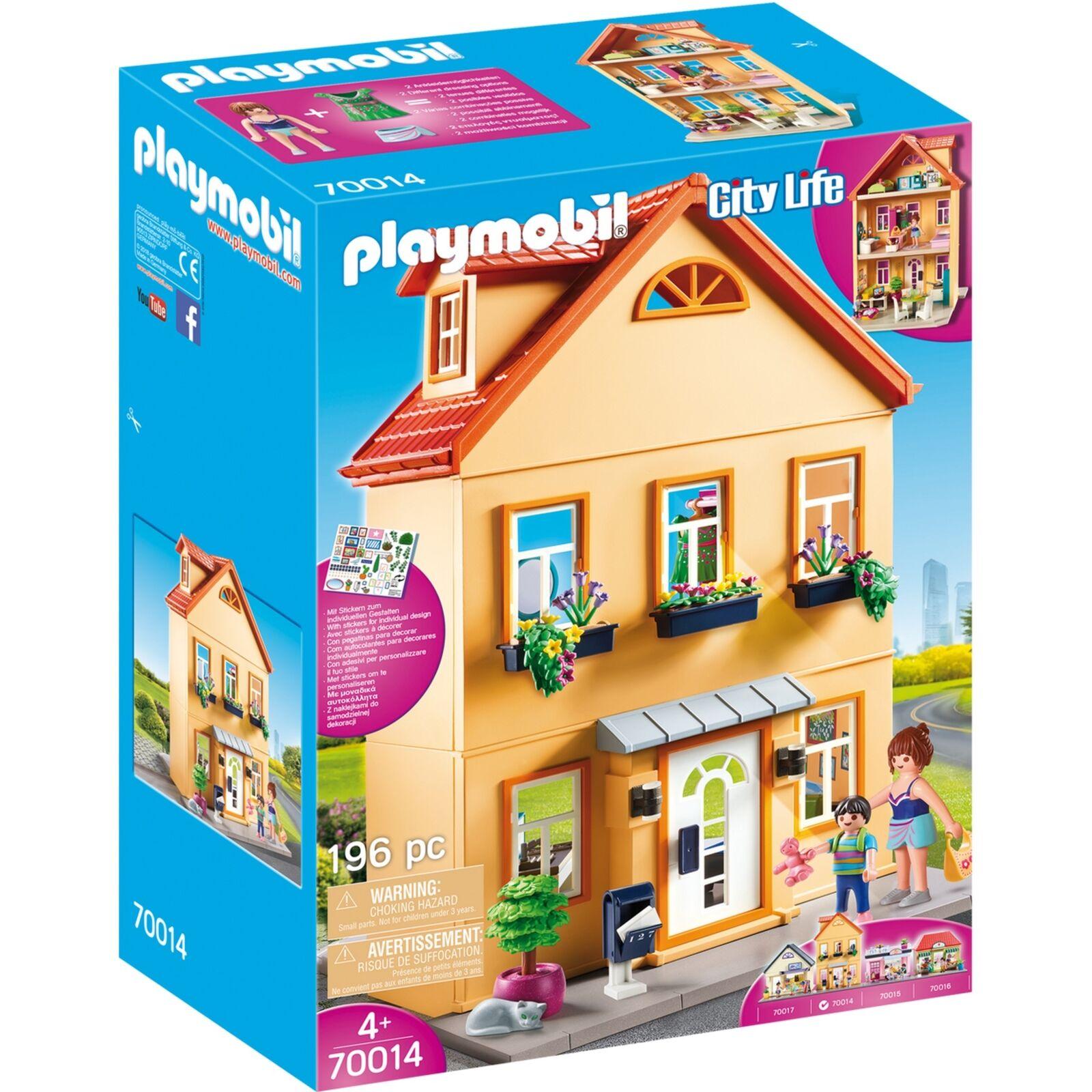 PLAYMOBIL Mein Stadthaus, Konstruktionsspielzeug, gelb  | Ideales Geschenk für alle Gelegenheiten