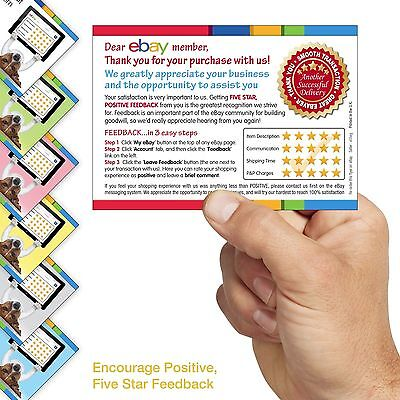 Ebay Seller Service 5 Star Rating Cards Flyers We Can T Wait To Hear From You Ebay