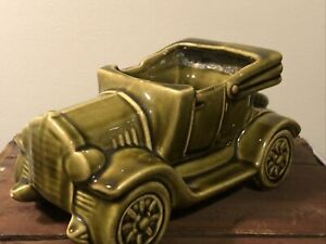 Vintage-9-x5-Floraline-McCoy-Pottery-Auto-Planter-1954-Green-USA-532-Car-Coupe