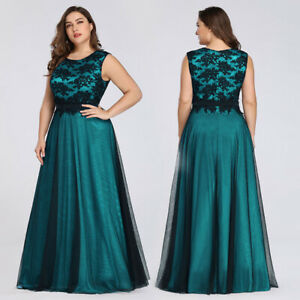 Details About Ever Pretty Us Plus Size Lady Lace Long Formal Evening Gown Prom Cocktail Dress