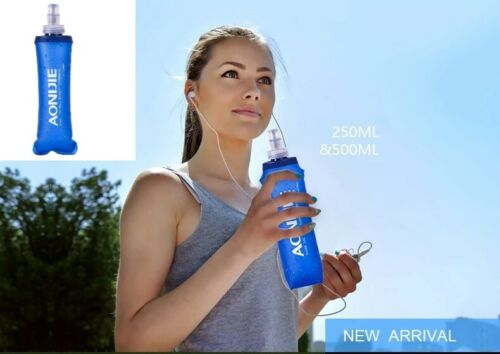 Aonijie running//hydration water bottle,collapsible 250//500ml with//without straw.
