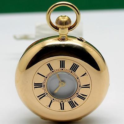 Jewelry & Watches Nice 1900's Thomas Russell 18k Solid Gold Manual Wind Hunter Pocket Watch 37.5mm To Enjoy High Reputation In The International Market Pocket Watches