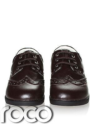Jungen dunkelbraun Schuhe, Schuhe Formell, hichzeitsschuhe, Babyschuhe