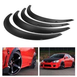 4PCS-Car-Wheel-Arches-Trim-Strip-Fender-Flares-Extension-Body-Protector-Black-UK