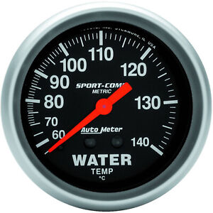 Autometer 3431M Gauge, Sport-Comp, Water Temperature, 2 5/8 in., 60-140 Degrees