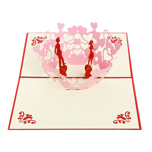 Handmade 3D Pop Up Greeting Card Birthday Wedding Christmas Mother Day Xmas Gift